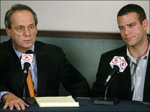 Epstein and Larry Lucchino have lunch and report ''we made progress . . . we are hopeful these discussions will work out for the best.''