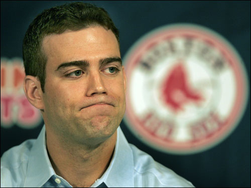 Epstein says he has turned down the team's contract offer and would leave the Red Sox. The Globe had reported Epstein and the team had agreed on financial terms of the contract earlier. ''In the end, my choice is the right one not only for me but for the Red Sox,'' he says in a statement. He stays at Fenway, has a beer around 8 p.m. with members of the baseball operations department, and finally sneaks out in a gorilla suit.