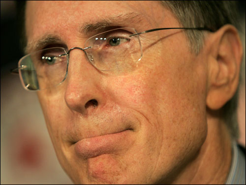 Principal owner John W. Henry takes the blame for Epstein's departure. ''There's plenty I could have done. I have to ask myself, maybe I'm not fit to be principal owner of the Boston Red Sox,'' he says at a Fenway press conference.