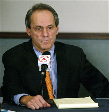 Speaking for the first time on Epstein's departure, Lucchino says, ''[Theo] made it clear his decision was based upon factors that are 'very personal.' I respect Theo's privacy, and I will not speculate publicly about the reasons for his decision.''