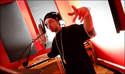 Lawrence-based hip hop artist Termanology worked on his upcoming street LP in the Wanka Sound Recording Studio in Lowell.