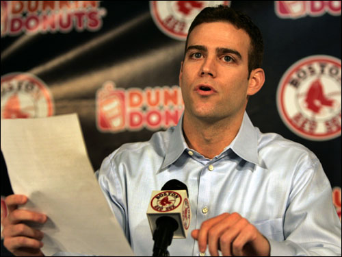 The Red Sox release a statement indicating that Theo Epstein will return to the team with the title and responsibilities of executive vice president and general manager.