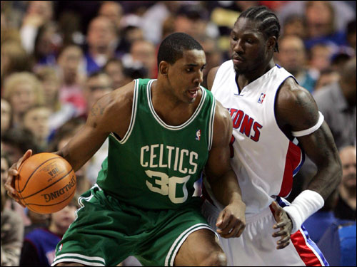 Blount fell out of favor with Doc Rivers with the development of Kendrick Perkins and Al Jefferson. The length of his contract (six years), the price tag ($40 million), and his disappointing results outweighed his offensive ability in the minds of the Celtics front office.
