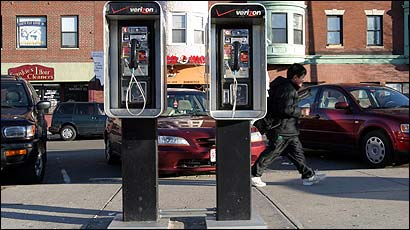 City and law enforcement officials say pay phones such as these in Maverick Square in East Boston attract drug dealers and prostitutes.