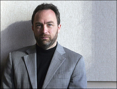 ''Wikipedia's goal is to give everyone on the planet free access to information,'' Jimmy Wales, the founder of wikipedia.org, said last week in a speech in Bo
