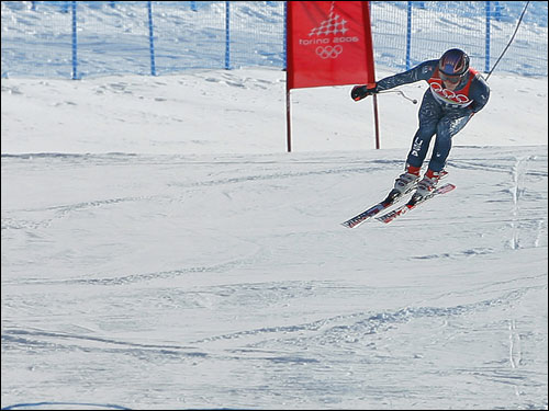 New Hampshire's Bode Miller finished fifth in the downhill, an event in which he was expected to medal.