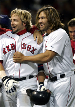 Kevin Millar and Johnny Damon are among many former Red Sox who find themselves on new teams this spring. Here's a look at some old faces in new uniforms.