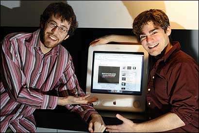 Patrick De Nicola (left) and Jonathan Ade see the spoof as a tribute.