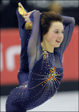 Russia's Irina Slutskya was the favorite to win the women's figure skating competition, but she finished with the bronze medal.