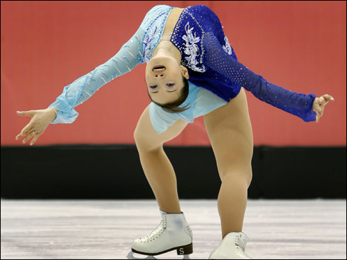 Arakawa pulled off a rare 'Ina Bauer' move during her program.