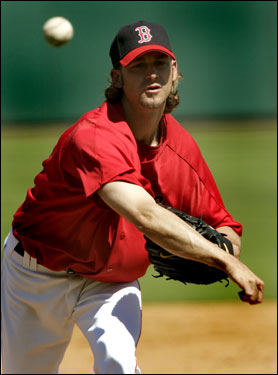 Bronson Arroyo started the game for the Red Sox against the Pirates.