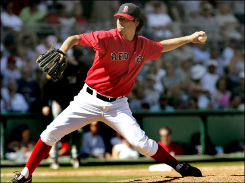 Red Sox lefthander Abe Alvarez pitched 2 1/3 innings of scoreless relief after replacing starter Bronson Arroyo.