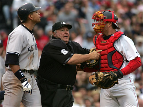 The first came on July 24, when Arroyo hit A-Rod with a pitch, igniting a bench-clearing brawl. The Red Sox went on to win the game on a walk-off home run from Bill Mueller.