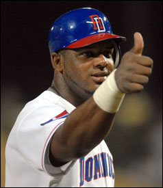 Strongman Wily Mo Pena played for the Dominican team this spring.