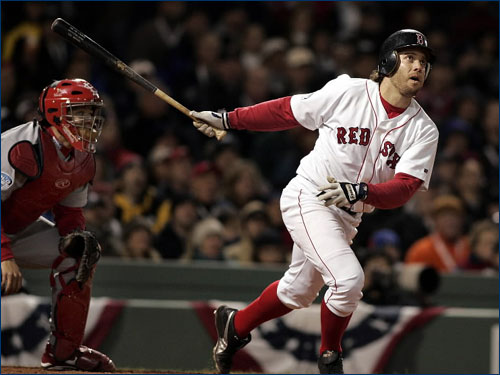 The Red Sox designated Mark Bellhorn for assignment on Aug. 19, 2005, ending his tenure with the club after a rocky season. He was picked up by the Yankees 11 days later, and is currently on the Padres roster. His biggest hits as a member of the Sox came in the 2004 postseason. He hit a three-run shot in Game 6 of the ALCS, and what turned out to be a game-winning two-run blast in the World Series opener.