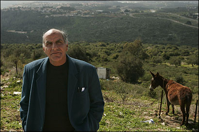 Beni Raz on a hill overlooking the Karnei Shomron settlement in the West Bank, where he has lived for 13 years.