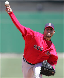 Josh Beckett threw 96 pitches against the Phillies, striking out six.