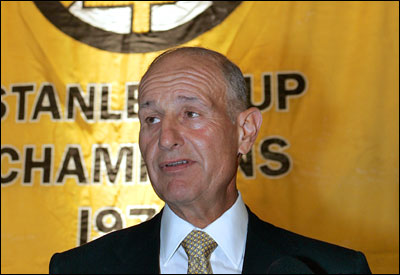Bruins owner Jeremy Jacobs believes the team's lack of success is the fault of management, not a flawed business plan.