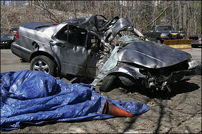 A preliminary police investigation indicated Andrea Goncalves was speeding when her car crashed into a tree in Hopkinton, killing the Hopkinton High junior and her brother, Joshua.