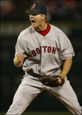 Papelbon struck out Brad Wilkerson to end the game and earn his first career save.