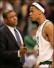 Doc Rivers is going to get a good look at his young players in the remaining five games, including new fan favorite, Gerald Green.