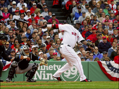David Ortiz grounded into a fielder's choice in the first inning.