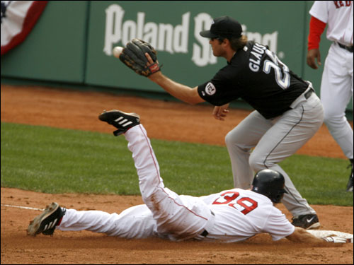 Troy Glaus could not get the tag down in time to get Stern.