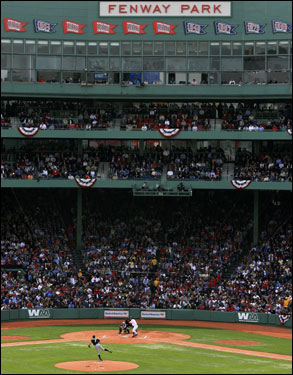 The absence of glass at the seats behind home plate may be the biggest change to Fenway Park this season.