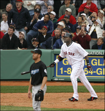 Both Ortiz and pitcher Vinnie Chulk knew the ball was gone.