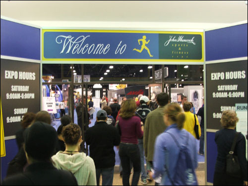More than 22,000 runners will particpate in Monday's race, and all of them were required to pick up their bib numbers at the expo. The race brings an estimated 700,000 people to Greater Boston.