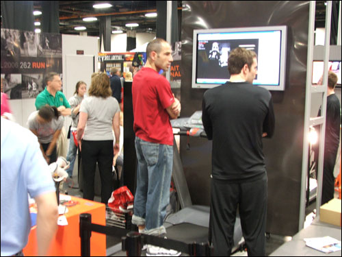 Nike sponsored a gait analysis booth which analyzed the running style of various runners and suggested shoes for them to wear.