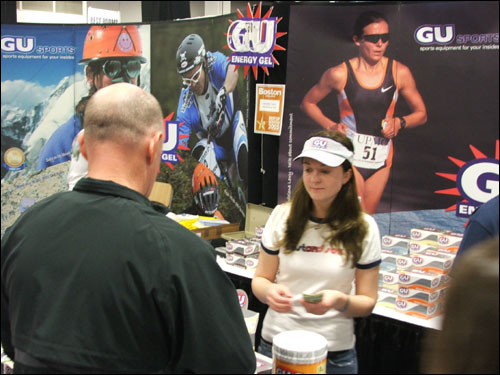 The vendors of GU energy packets estimate that 40-50,000 packages of their product are consumed during the marathon.