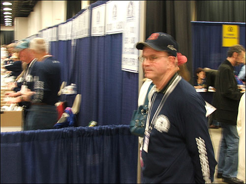 Bob Trostel, of Plymouth, has been a volunteer at the Boston Marathon for 15 years. He ran the race for 11 years, but a quadruple bipass last year has put him on the sidelines. He hopes to be back in marathon shape next year.