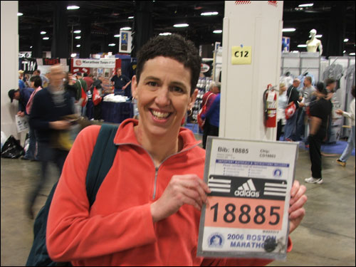 Monday's race will be the tenth marathon, and second in Boston, for Franklin's Claire Robbins, who is running for Dana Farber.