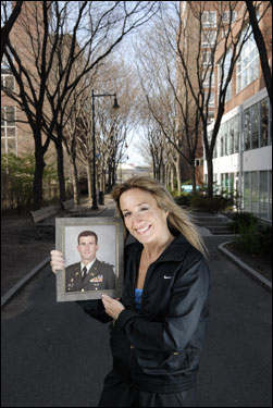Cecilie Loidolt is running in the Boston Marathon after her husband, Col. Neal Loidolt, ran in the Boston Marathon in Iraq.