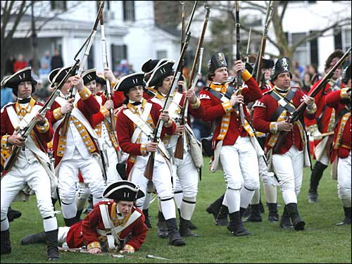 Battle on Lexington Green - Boston.com