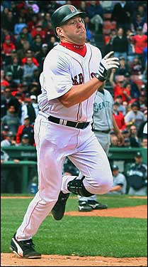 The Sox were down to their last out in the ninth and down by one when Kevin Youkilis hit a grounder up the middle, then beat the throw of a diving Jose Lopez.
