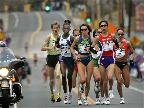 The women's elite separated themselves from the rest of the pack.