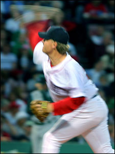 Curt Schilling was practically a blur to the Devil Rays lineup, as he struck out seven over six innings while improving his record to 4-0.