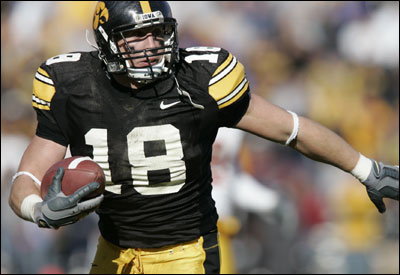 In Chad Greenway's time at Iowa, the only school to offer him a Division 1 scholarship, he was a three-time All-Big Ten selection.