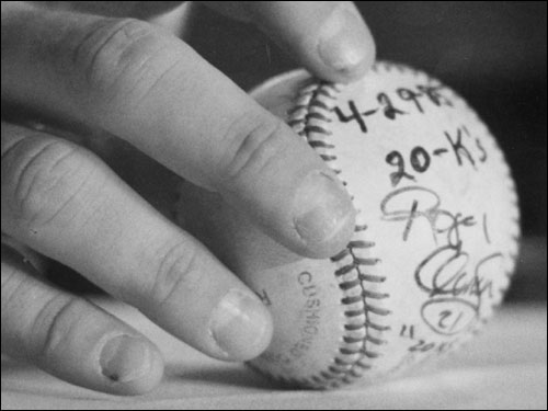 Saturday marks the 20th anniversary of Roger Clemens electrifying 20-strikeout performance against the Seattle Mariners at Fenway Park on April 29, 1986. We take a look back at the night the 23-year-old Rocket made baseball history. (Information in this gallery taken from the Boston Globe)