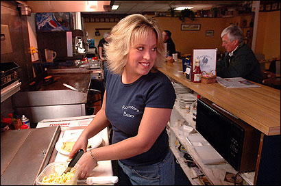 Rooster's Bistro owner Corinne Paulsen says people are sad about the campus's closing.