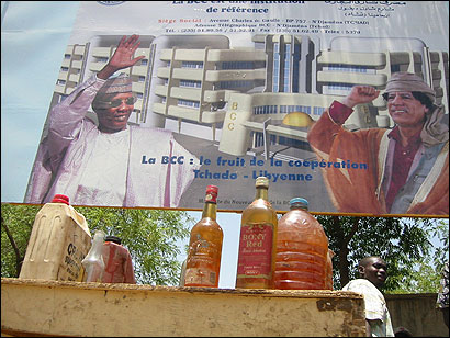 Despite living in a country that produces more than 160,000 barrels of oil a day, most Chadians buy their gasoline from sellers who store it in used soda and liquor bottles.