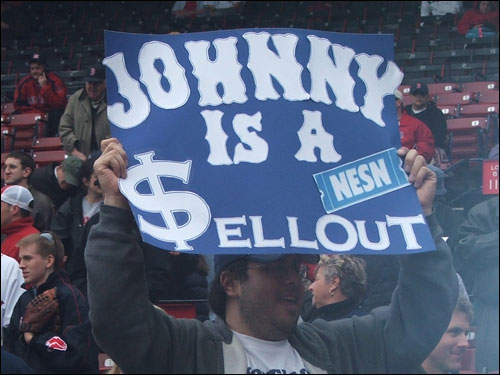 Signs like this one were pretty common around the ol' ballyard on Monday night.
