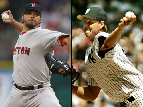 Josh Beckett (3-1, 4.86 ERA) returns to Yankee Stadium for the first time since his dominating World Series performance in 2003. He faces Randy Johnson (5-2, 5.02 ERA) in the series opener. Beckett has allowed 17 earned runs in his last three starts, while Johnson has given up five or more runs in three of his last four starts.