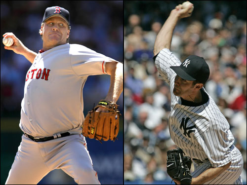 The second game of the series showcases another marquee pitching matchup. Red Sox ace Curt Schilling (5-1, 3.02 ERA) opposes Mike Mussina (5-2, 2.35 ERA), who comes into the game pitching as good as he ever has in a Yankee uniform. Schilling is second in the league in strikeouts, Mussina is third, and both are tied for the AL lead in wins with five.