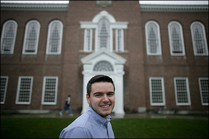 Tim Andreadis, who is openly gay, was elected student government president at Dartmouth College.
