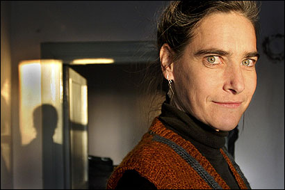 Former NPR reporter Sarah Chayes at her home in Kandar, Afghanistan, in February. 'I don't back down easily,' she said.