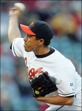 Rodrigo Lopez was the starting pitcher for the Orioles. Coming into the game Lopez was 0-2 against the Red Sox in two starts this season.