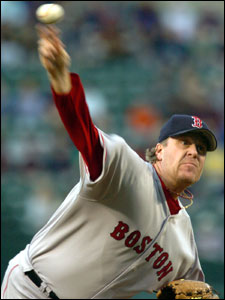 Curt Schilling won last night but lasted just 5 1/3 innings and gave up three homers.